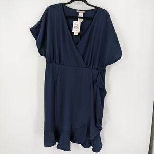 NWT LOVE SQUARED Ruffle Short Sleeve Dress